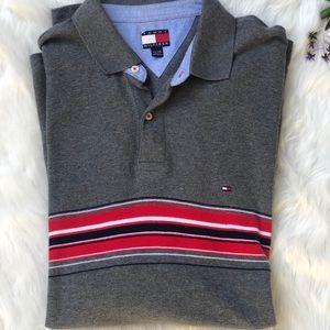 Tommy Hilfiger xxl 2xl striped polo shirt logo